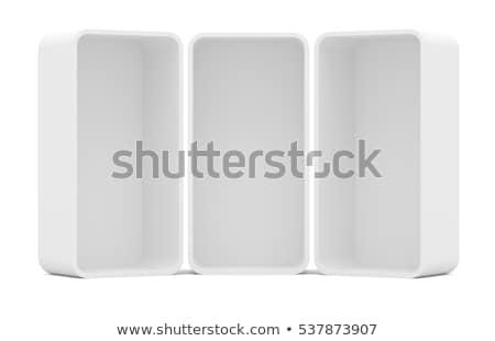 três · vazio · varejo · prateleiras · ver - foto stock © cherezoff