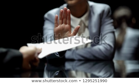 Close-up Of A Businessman Hand Refusing Bribe Stock photo © AndreyPopov