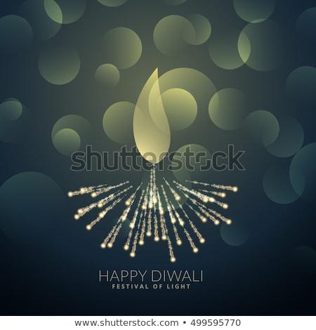 Diwali feux d'artifice bougie lampe culte dieu Photo stock © SArts