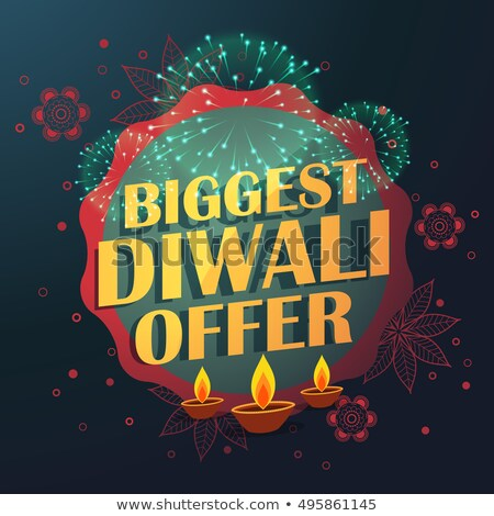 biggest diwali sale offer with beautiful decoration and diya  Stock photo © SArts