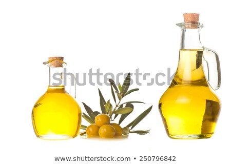 Extra virgin olive oil in two jars  Stock photo © marimorena