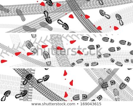 orizzontale · illustrazione · scarpa · pneumatico · abstract · ruota - foto d'archivio © Vertyr