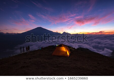 лет вечер кемпинга гор пейзаж Сток-фото © Kotenko