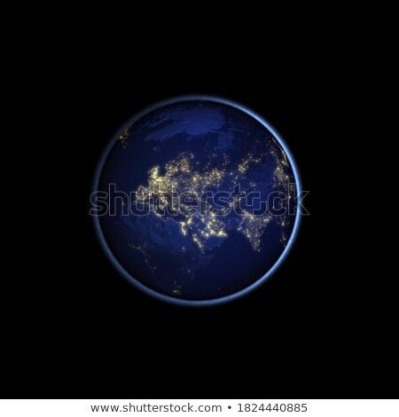 Realistisch aarde asia zwarte asian continent Stockfoto © Noedelhap