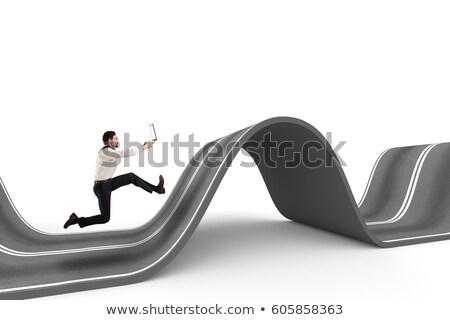 ambitieus · man · lopen · eigen · business · geld - stockfoto © alphaspirit
