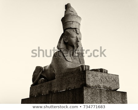 ancient egypt images and hieroglyphics on granite stock photo © mikko