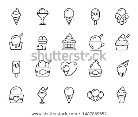 Frozen yogurt in wafer cups Stock photo © Digifoodstock