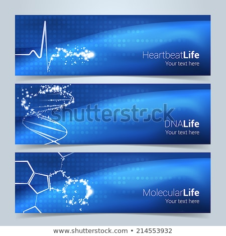 clean medical and healthcare background with heart beat Stock photo © SArts
