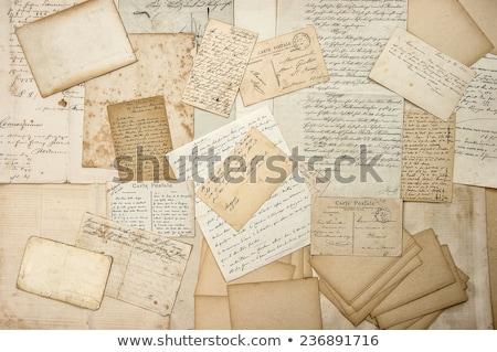 velho · documentos · dobrador · escritório · retro · padrão - foto stock © Kidza