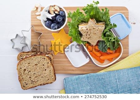 ランチ · ボックス · 健康食品 · 表 · 食品 · 朝食 - ストックフォト © m-studio