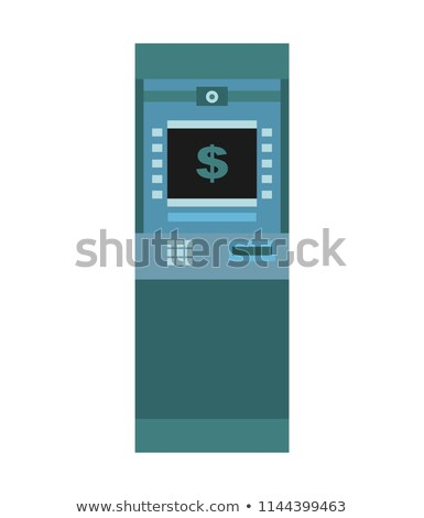 ATM isolated. Financial apparatus for issuing cash Stock photo © MaryValery