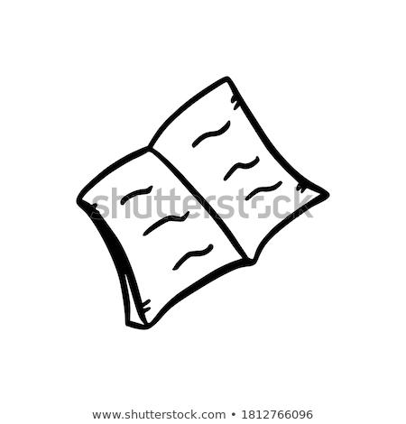 Kézzel rajzolt tanul irodalom tábla kicsi piros Stock fotó © tashatuvango