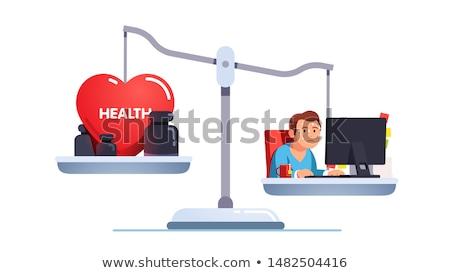 保険 健康 ボート 女性 漫画 ストックフォト © artisticco