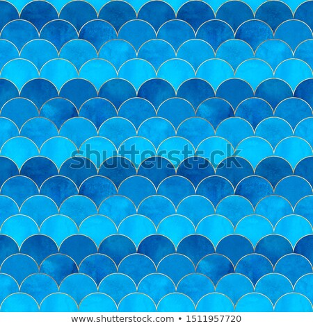 paper template with fish and mermaid underwater stock photo © bluering