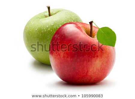 Red Apples with Green Leaves and drops Stock photo © Ava
