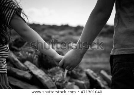 Pequeño nino sonrisa nino fondo arte Foto stock © bluering