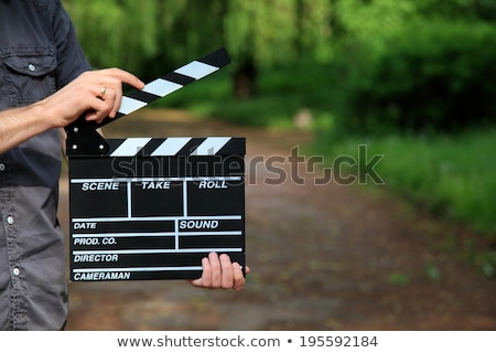 Filming countryside. Stock photo © Fisher