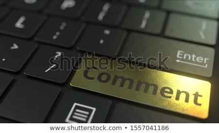Opinion clavier 3D aluminium Photo stock © tashatuvango