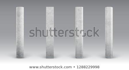 Szett beton oszlopok különböző forma izolált Stock fotó © kup1984