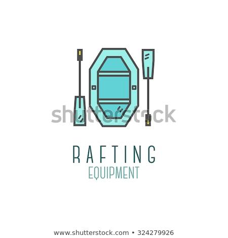 かわいい ラフティング ショップ アイコン ストックフォト © JeksonGraphics