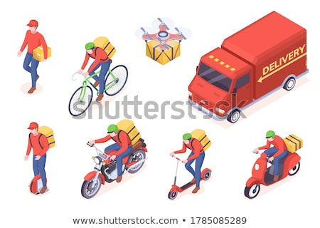 Isometric delivery cars Stock photo © Genestro