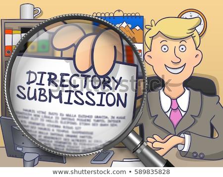 local business marketing through magnifier doodle style stock photo © tashatuvango