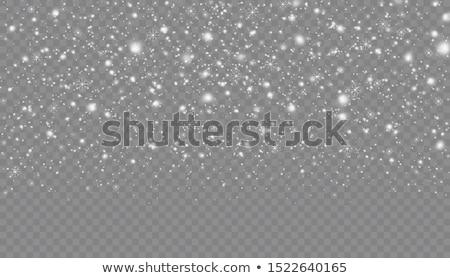 Kar yağışı şeffaf arka plan ışık etki Stok fotoğraf © romvo