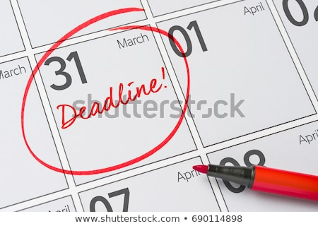 datum · kalender · einde · maand · ondiep · teken - stockfoto © oakozhan