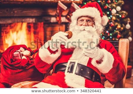homem · traje · papai · noel · saco · natal · férias - foto stock © wavebreak_media