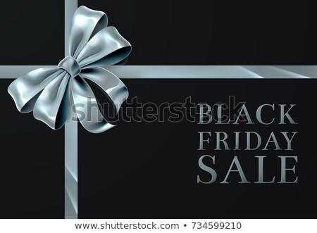 Stockfoto: Black · friday · verkoop · zilver · lint · boeg