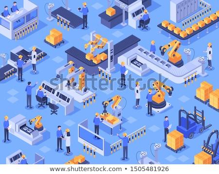 Industria máquina herramienta tornillo de trabajo Foto stock © vrvalerian