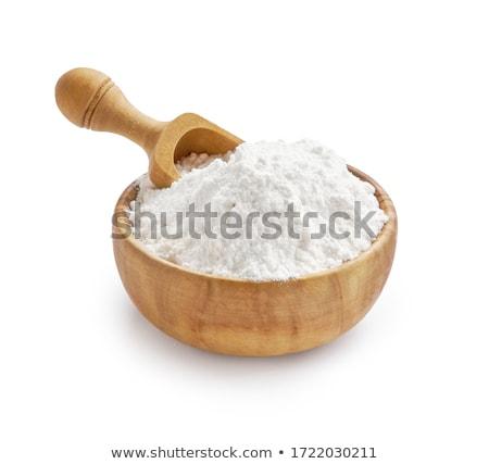 Kom tarwe meel witte bestanddeel Stockfoto © Digifoodstock