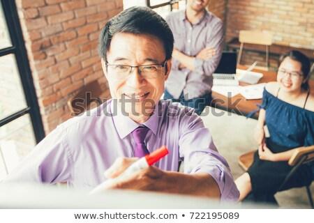 Idős üzlet nők padlás nő iroda Stock fotó © IS2