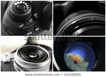 Closeup Digital Camera Lens  with Be Unique. Stock photo © tashatuvango