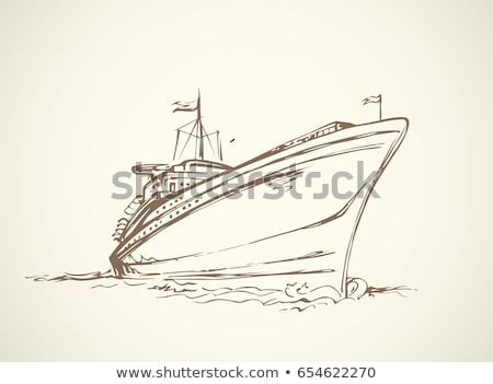 Cruise ship sketch icon. Stock photo © RAStudio