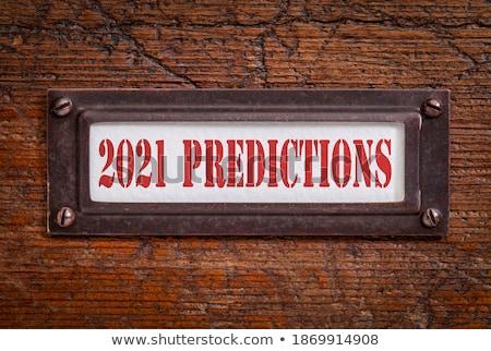 forecasting concept on file label stock photo © tashatuvango