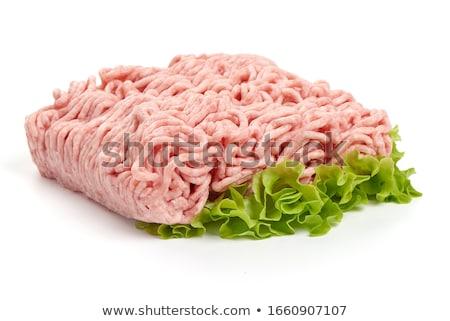 Hús borjúhús izolált szeletel darabok fehér Stock fotó © ssuaphoto