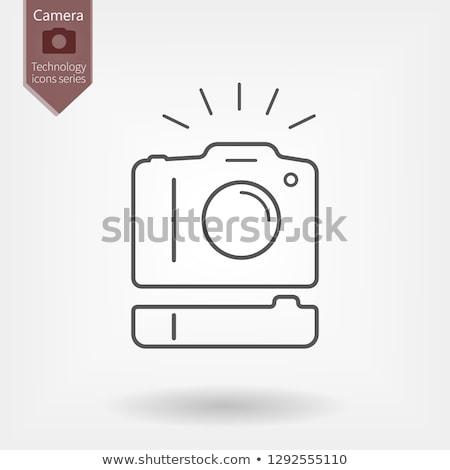 Kamera elem markolás fekete digitális izolált Stock fotó © sharpner