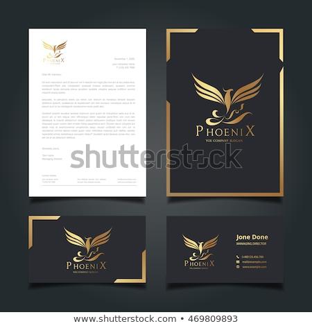 Ingesteld luxe phoenix logo best vogel Stockfoto © krustovin