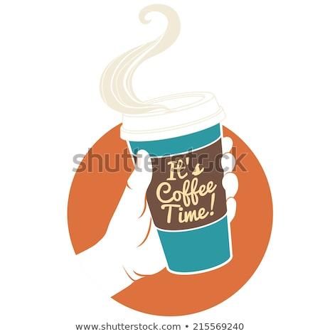 taza · de · café · café · papel · taza · Splash · Servicio - foto stock © rastudio