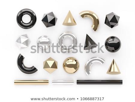 zwarte · cilinder · meetkundig · cijfer · schaduw · vorm - stockfoto © robuart