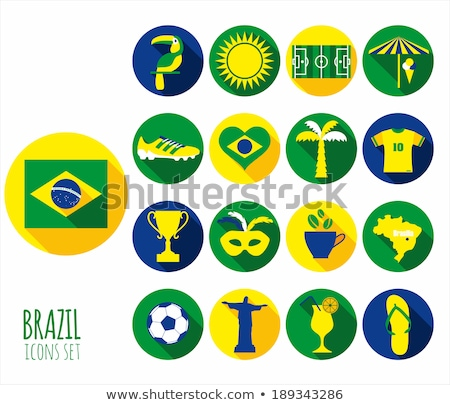 Brasilien Herz Flagge Vektor Bild Textur Stock foto © Amplion