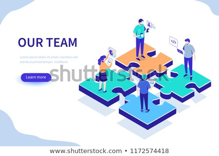 Vector bedrijf team schets ontwerpsjabloon Stockfoto © blumer1979