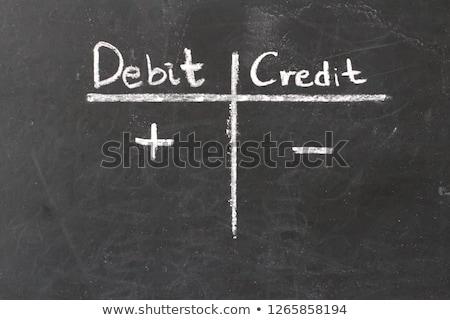 Tranzakció bankügylet szöveg írott tábla illusztráció Stock fotó © alexmillos