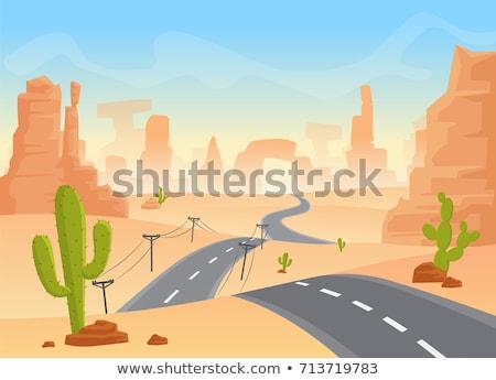 Scène weg westerse grond illustratie straat Stockfoto © bluering