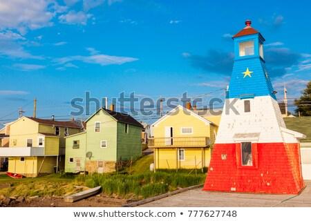 Cheticamp Harbour Range Front Lighthouse Stock photo © benkrut