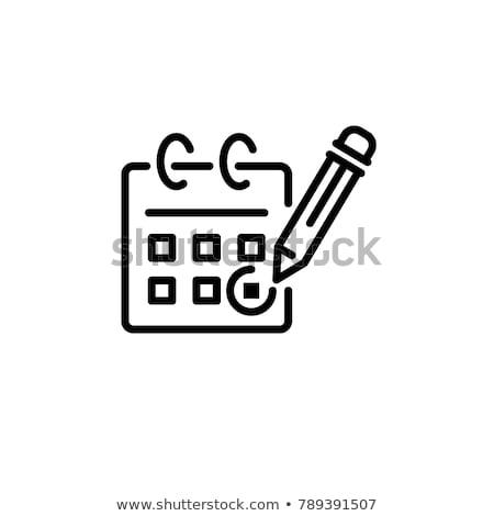 guardar · fecha · palabras · calendario · rojo · marcador - foto stock © alexmillos