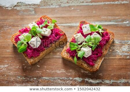 Beetroot and feta toast Stock photo © Lana_M