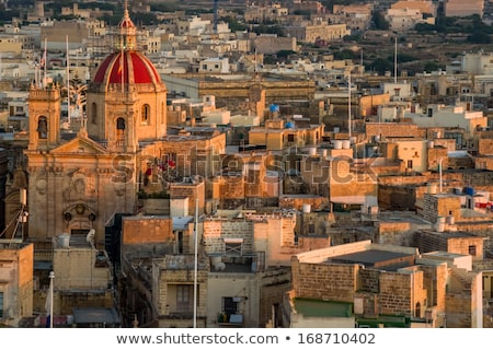View over the city of Victoria or Rabat at Gozo, the neighboring island of Malta Stock photo © Virgin
