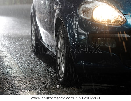 car in the rain Stock photo © phbcz